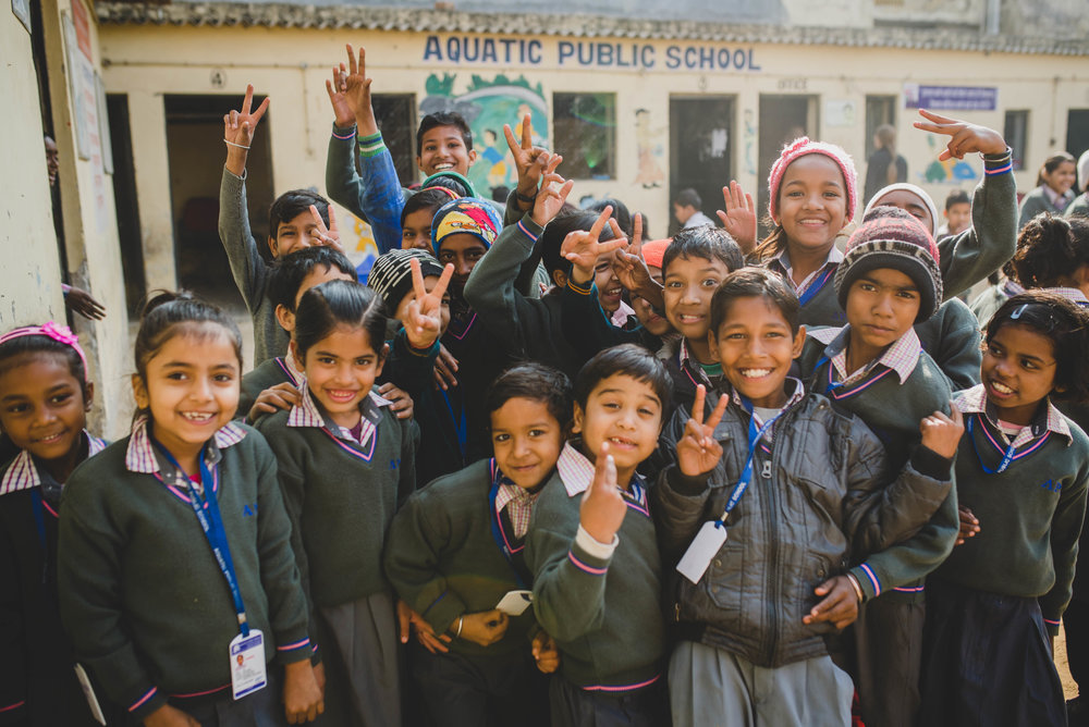 The kids at Aquatic Public School are always eager to jump in a photo. It was so wonderful to return to APS and see the kids' growth as well as the growth of the staff and facilities.