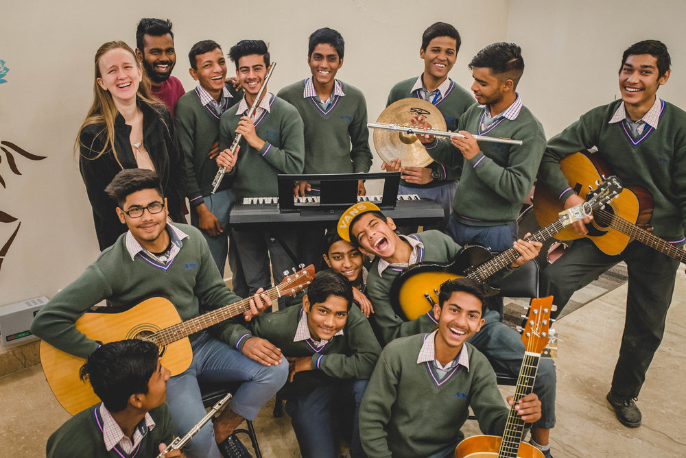 We're pretty sure there's no better capture than this one to display how everyone feels about music class. The boys love this time to grow in their musical knowledge, but also just to simply have fun with one another.