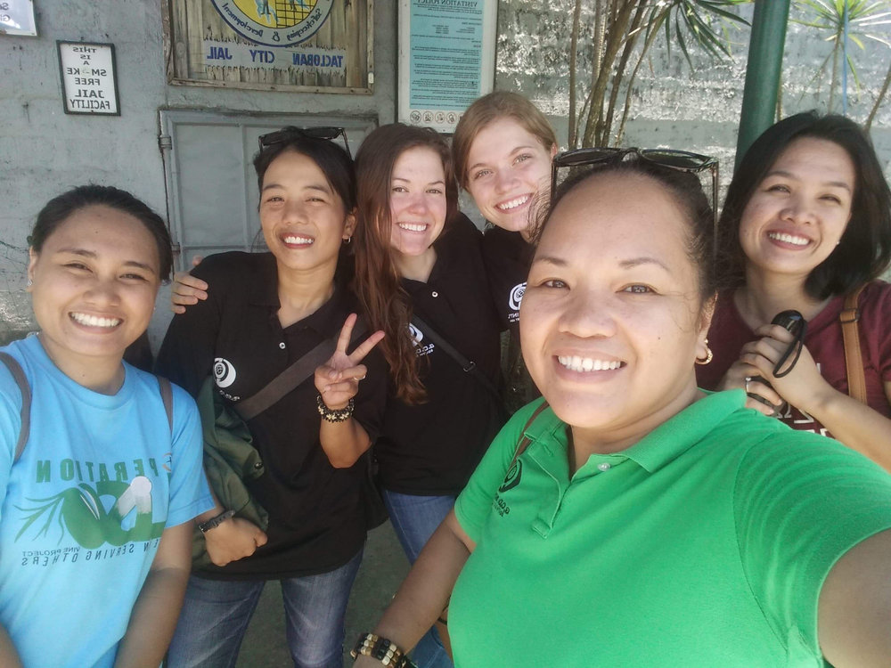 Darbie visited the Tacloban Women's Jail alongside Amanda Byrd, G.O.D. cooperatives Rina Miller, Irish Dagami and friends. This group visits the jail every week to bring food, education and encouragement to the women.