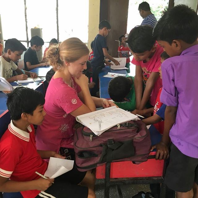 At the hostel for homeless boys in our neighborhood, children who would otherwise be working on the streets find shelter, meals and quality education. @institute_for_god student Gabby Ladd has been accompanying GOD India staff each day to the hostel to offer short academic lessons followed by interactive games! #education #godindia #godintl