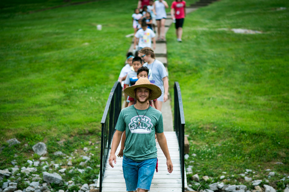 Jesse facilitated camp for dozens of kids for 5 weeks this summer, with the help of SLAM youth group teams.