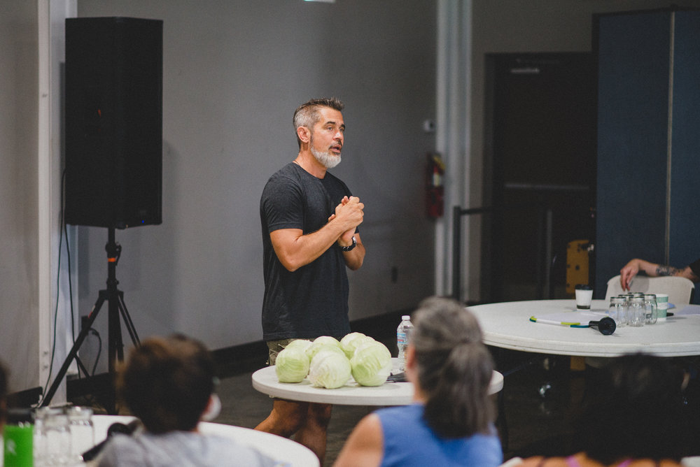 Fermented Farmer, Todd Vincent, sharing on the history of fermentation and the importance of incorporating this ancient practice into our routine diets.