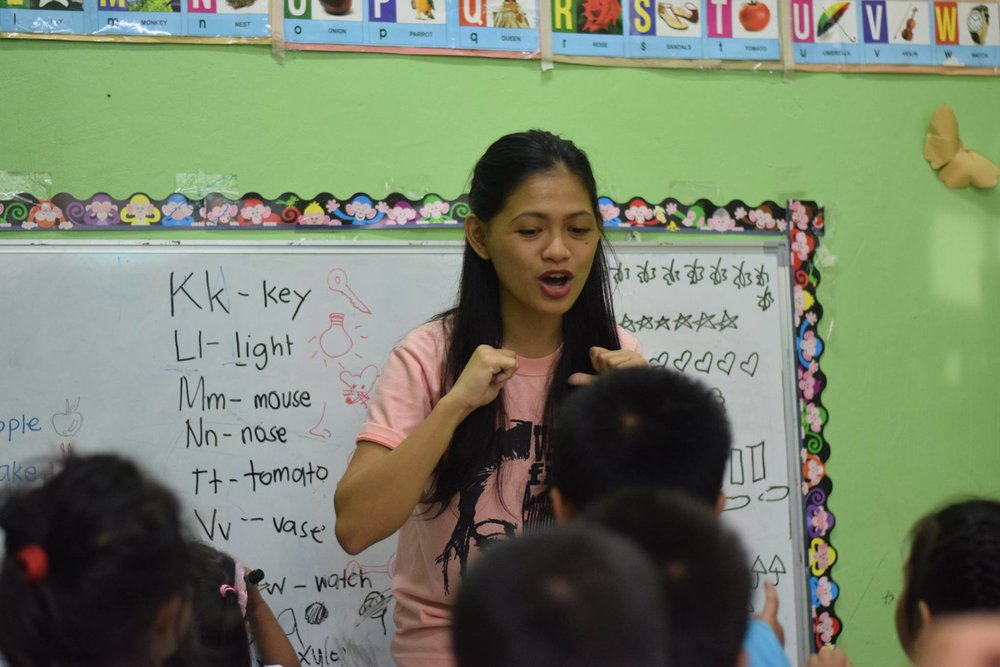 Social Work Intern, Sherelyn Campo, volunteers weekly at Lighthouse Preschool teaching songs, language arts, and playing games with the students. She is able to put into practice what she's learning from the Word while interacting with the kids.