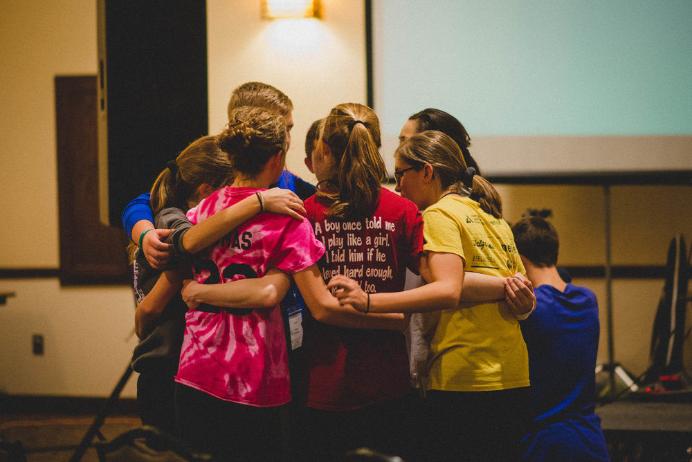 Several students spoke of the powerful moments they experienced through praying for one another.