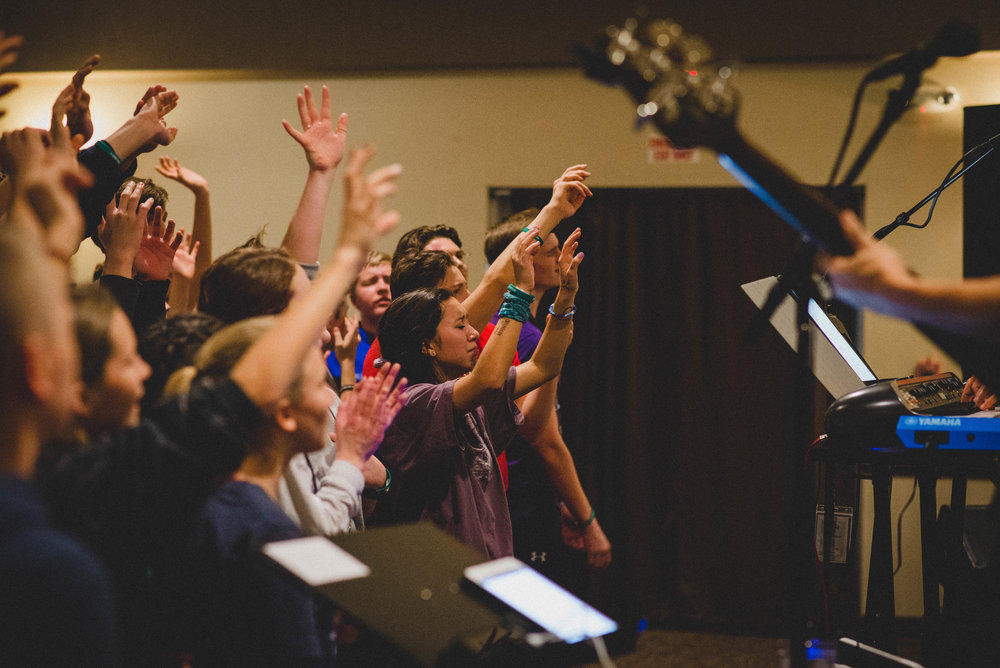 Worship provided the opportunity for students to connect with God and experience unity with their peers as they sought him together.