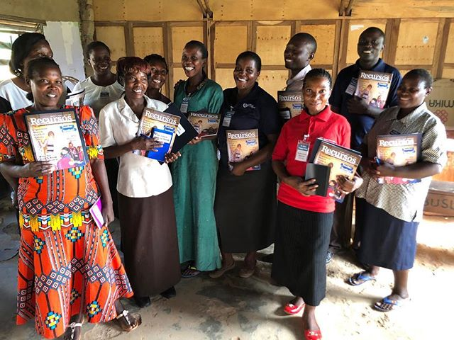 "Here are the proud recipients of the newest edition of ""Recursos, A Publication for Educators"" written and published by educators from @god_intl and distributed around the world! Derek Bargatze taught this group with a seminar on the importance of brain breaks. They loved it. Thank you Lord for helping us empower teachers to better invest into kids!  #godintl #godeastafrica #empowerment #uganda #teachers"