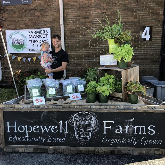Come out, say hi and pick yourself up some freshly harvested organically grown produce! 4-7pm today!! 1106 Hadley's Ave Old Hickory, TN @ohvillagemkt