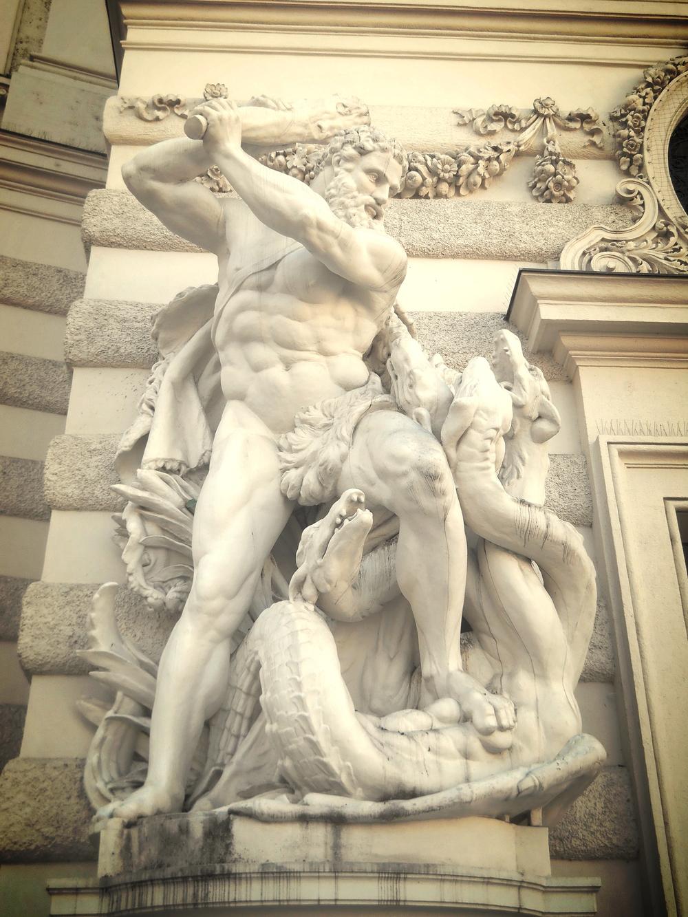 Hercules and Hydra, Hofburg,Vienna, Austria, 2014
