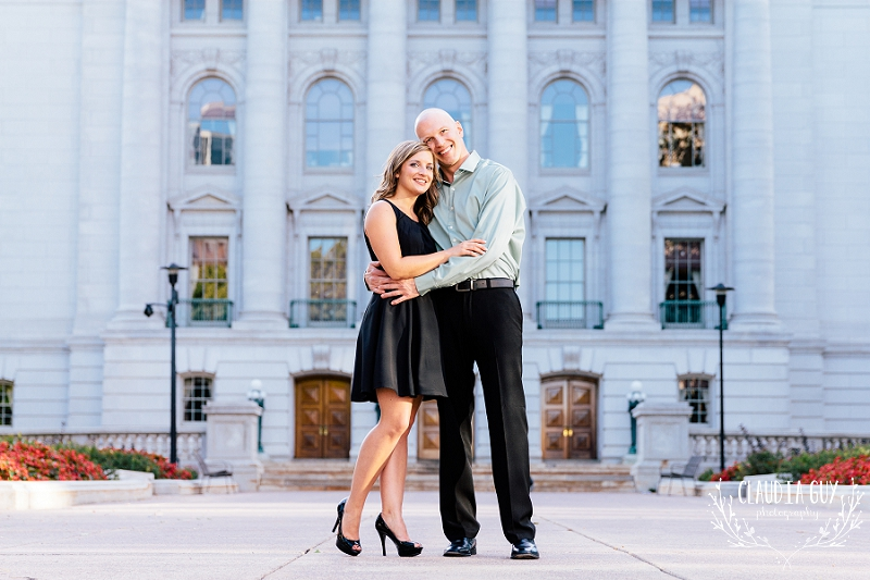 Madison wedding photographer, Claudia Guy, provides timeless Madison wedding photography and engagement photography services. Here, the wedding party enjoys a quiet moment at the Pres House in Madison, WI near the University of Wisconsin. Claudia Guy Photography specializes in Madison wedding photography and engagement photography. In addition to providing Madison wedding photography services, Claudia Guy Photography also services surrounding areas. Claudia Guy Photography offers Madison wedding photography and Madison engagement photography services.  Claudia Guy Photography takes pride in providing exceptional service for Madison wedding photography and treats each wedding with care and creativity. Your wedding day is carefully captured with unique, photojournalistic photography in the Madison, Wisconsin area. This is Madison wedding photography at its best. Claudia Guy Photography offers wedding packages that all include digital images with a print release, two photographers, and a complimentary engagement photography session in the Madison, WI area. Offering wedding coverage in Madison, WI, Milwaukee, Washington, DC and destinations worldwide. Timeless. Classic. Photojournalism. These are the words typically used to describe this Madison wedding photographer. We take pride in providing our clients with the type of Madison wedding photography they are looking for. Its one thing to take pictures, its another to capture a timeless story to last a lifetime. Our Madison clients are typically looking for excellent customer service, individualized attention, and of course fantastic images at the end of the day! This is what draws them to our Madison wedding photography business. Claudia Guy Photography offers Madison wedding photography coverage in the Madison, Wisconsin area, including but not limited to, Dane County WI, Verona WI, Milwaukee WI, and the surrounding areas. In addition, we also offer wedding photography coverage in the Washington, DC area.