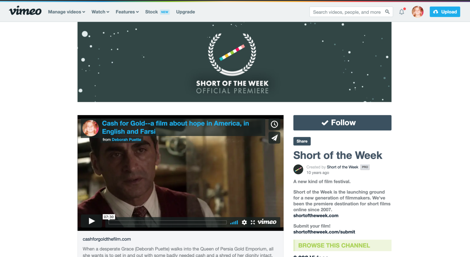 Cash for Gold SHORT OF THE WEEK on VIMEO!