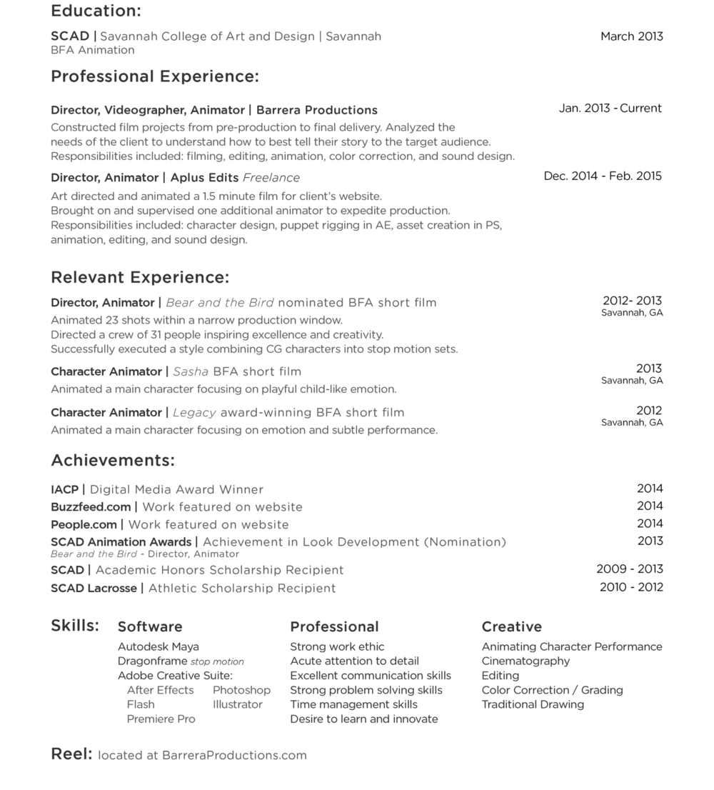 Resume_MattBarrera