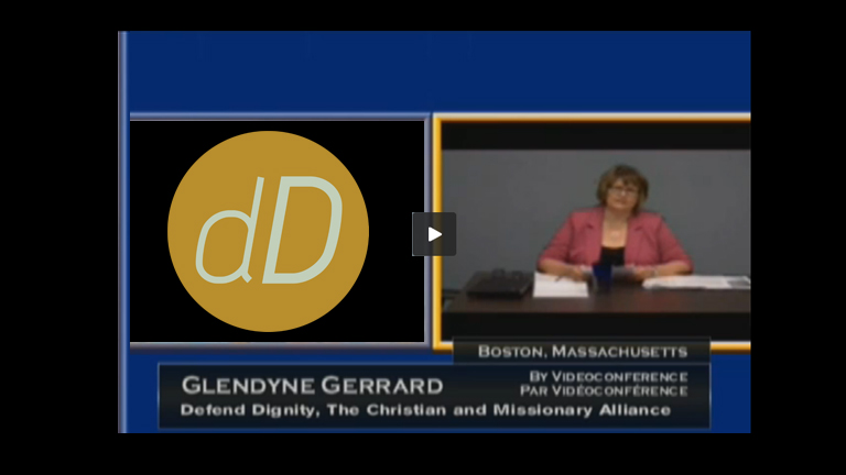 In Committee from the House of Commons - Justice and Human Rights - July 10, 2014 The committee resumes its hearings on the federal government's proposed prostitution legislation (C-36). MPs hear from Glendyne Gerrard representing Defend Dignity (go to timecode 00:37:15), The Christian and Missionary Alliance (July 10, 2014)