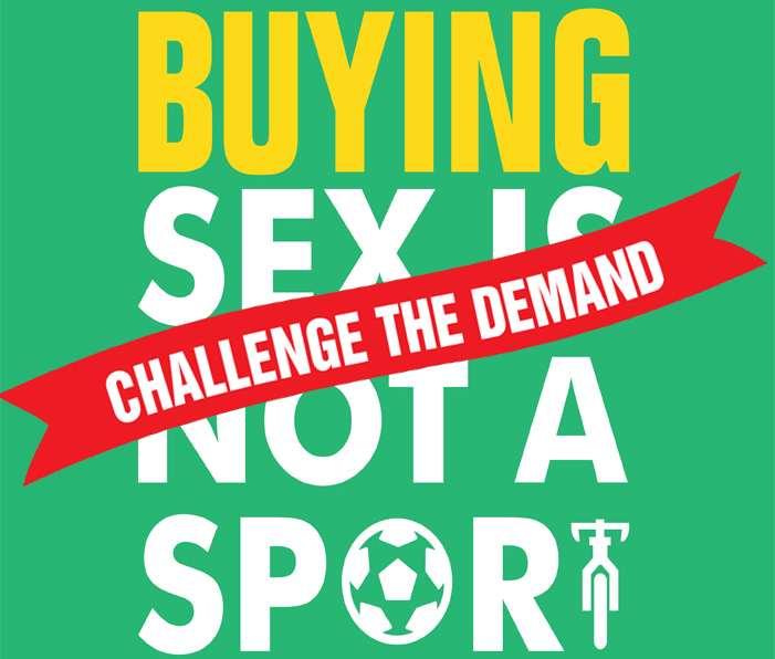 Start the conversation Come to any one of these launch events to network with front line organizations, ask questions, and learn more about this campaign. Sep 24  |  Toronto  Oct 02  |  Hamilton  Oct 29  |  Welland  Pan Am Games July 2015 (7:15) www.buyingsexisnotasport.ca
