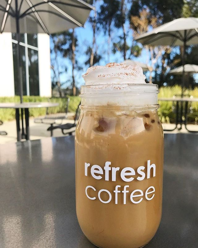 Sure, it's December, but this is San Diego! Wake up while cooling off this afternoon with your favorite holiday drink, like this Iced Gingerbread Latte!