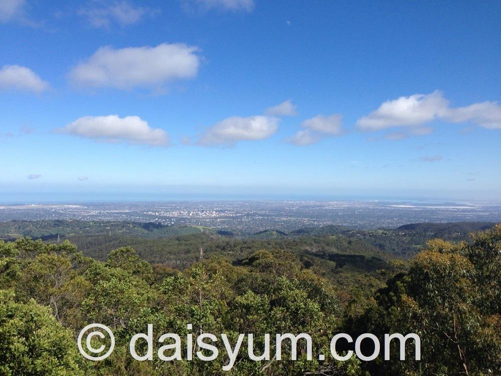 Beautiful panoramic view of Adelaide