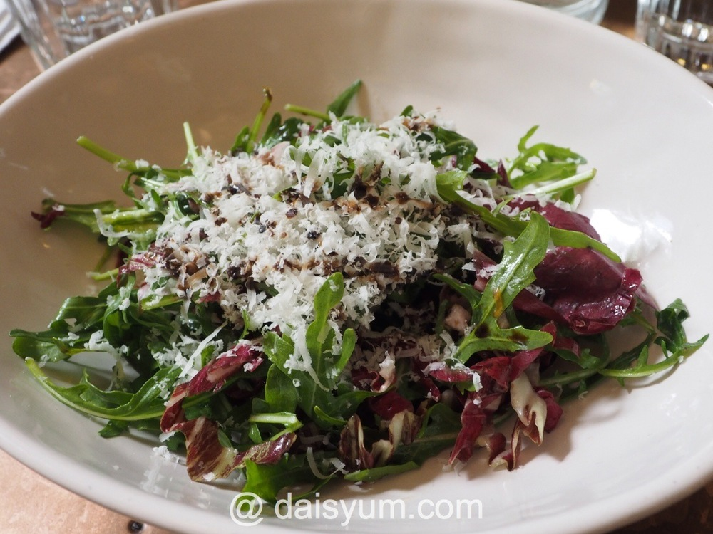 Rocket and radicchio salad