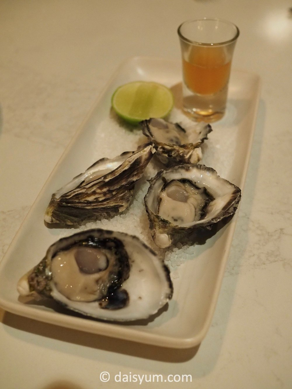 Oysters Natural - with Nam Jim dressing