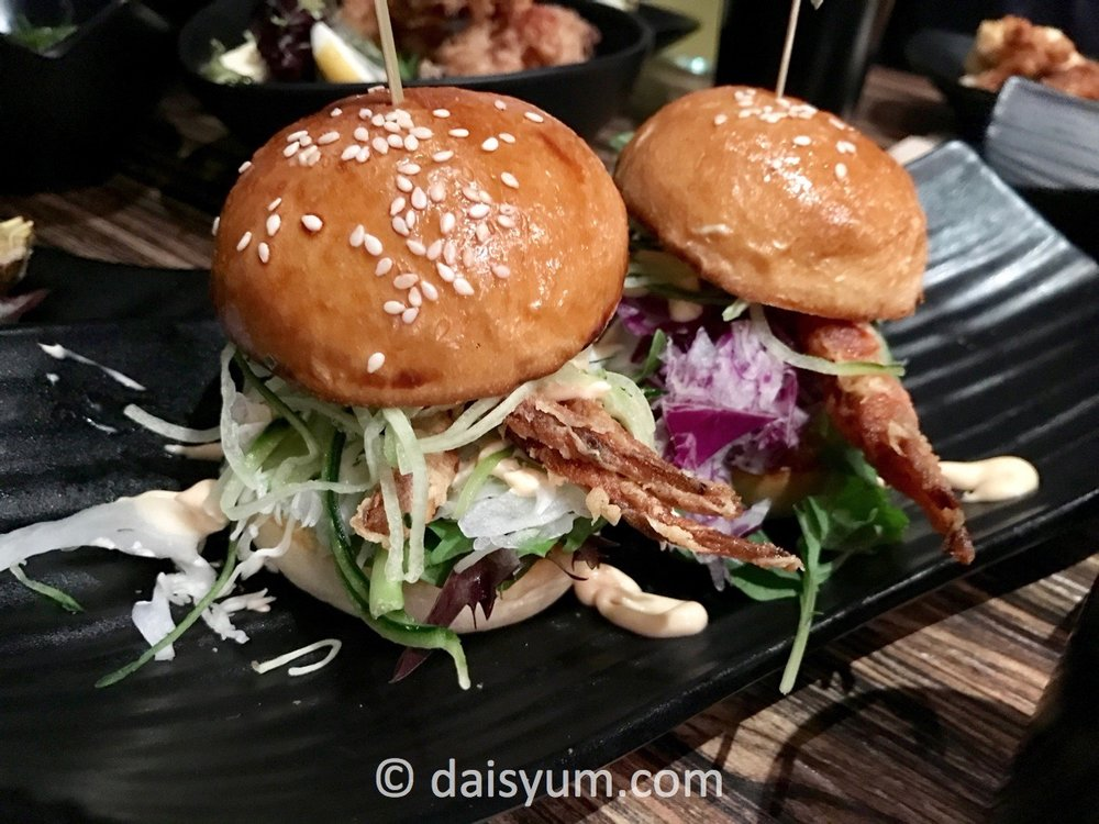 Soft shell crab mini burgers