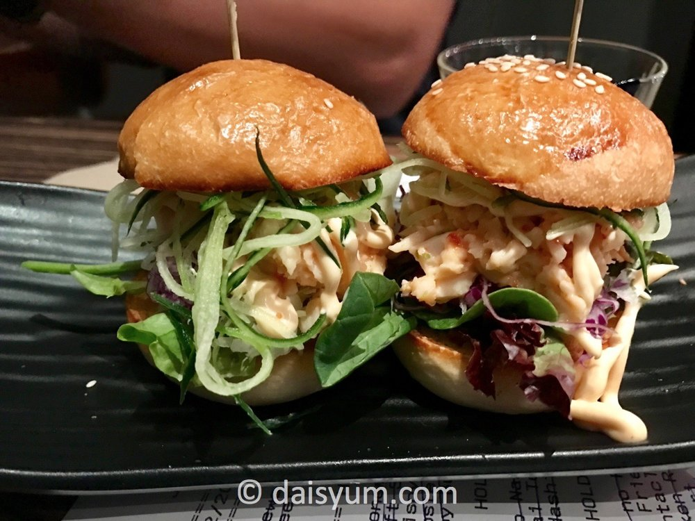 Lobster salad mini burgers
