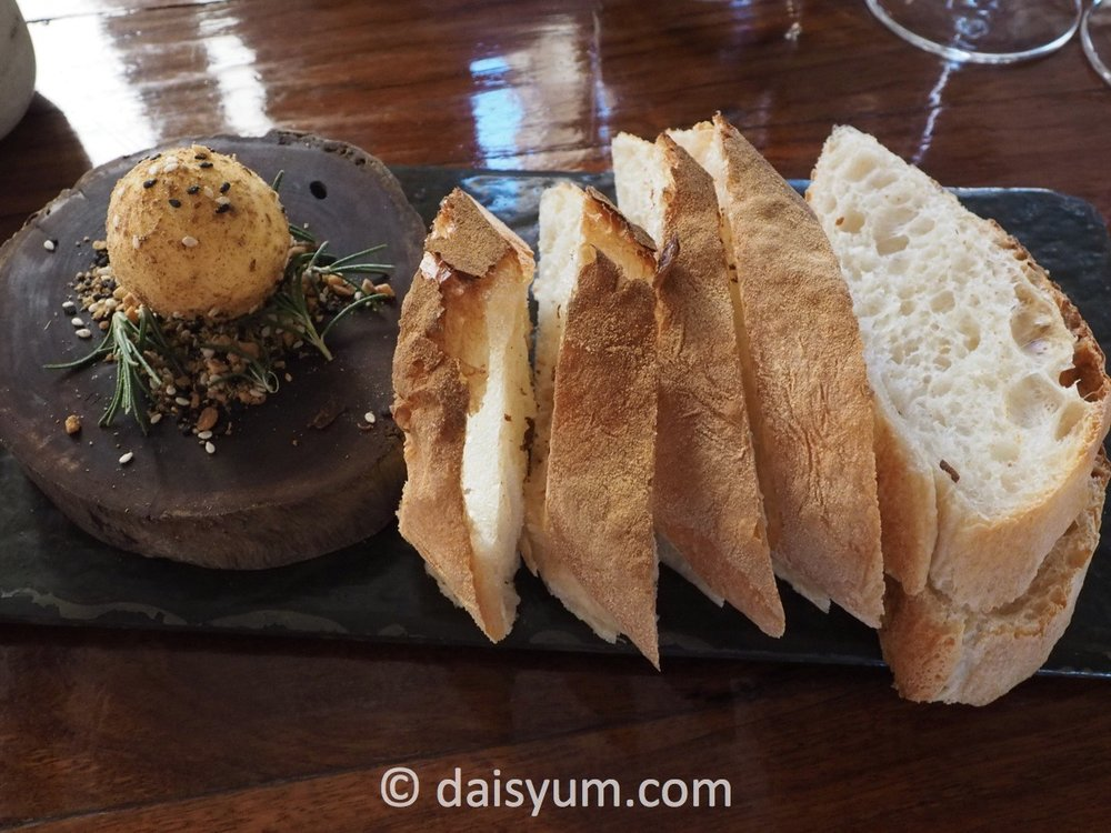 d'Arry's bread with salt crusted house churned butter