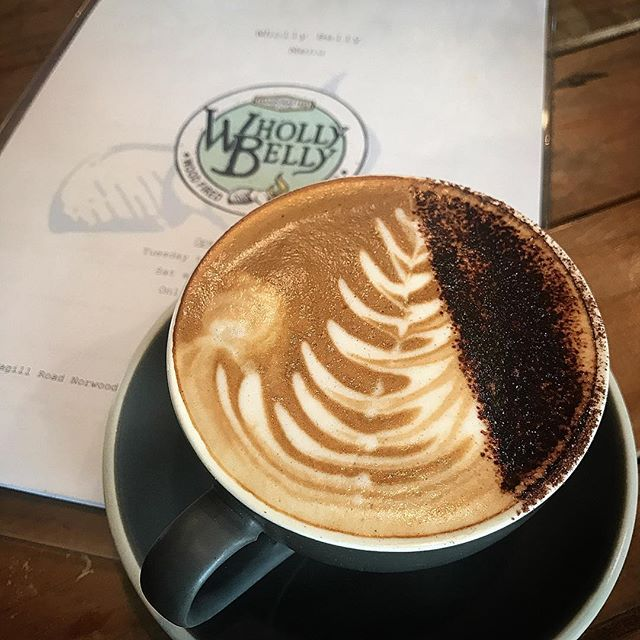 Yup back at one of our favourites @whollybellywoodfiredkitchen for a morning coffee and bagel 🥯 . . . #cotd #coffeeoftheday #coffeelife #coffeegram #coffeeaddict #coffeelover #caffeine #coffeelovers #coffeeholic #coffiecup #coffeelove #coffeesesh #adelaide #sacoffee #cuppuccino  #coffeeart #foodie #foodblogger #daisyumblog #adelaide #adelaidecafe #morning #drinkcoffee #happy
