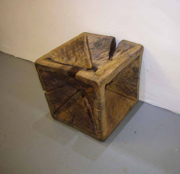 'Waxed Cubes - Oak Folded Hole'