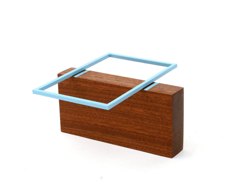 Blue with Teak