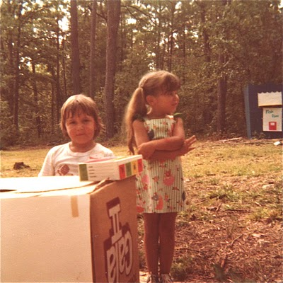 Chris and Robin White. Late July, 1977. Columbia, SC. Near Harbison Lake.