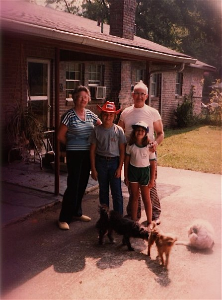 Granny, Me, PaPaw, and my sister Robin. Summer 1980, Tiftonia TN USA