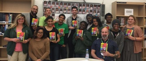 Author Adam Silvera in NYC classroom