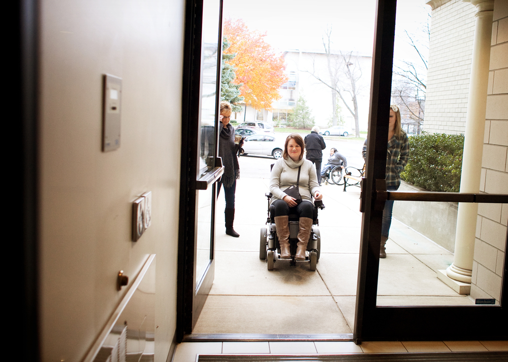 Automatic door openers are considered assistive technology.