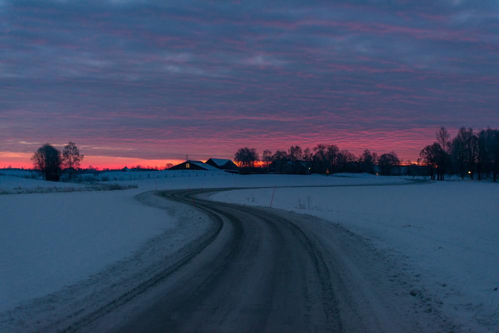 Fin soluppgång