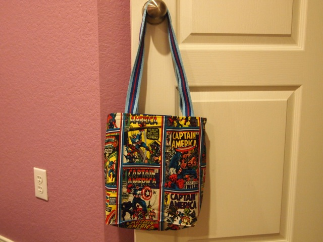 Captain America tote bag - full