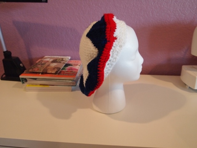 Captain America hat - side