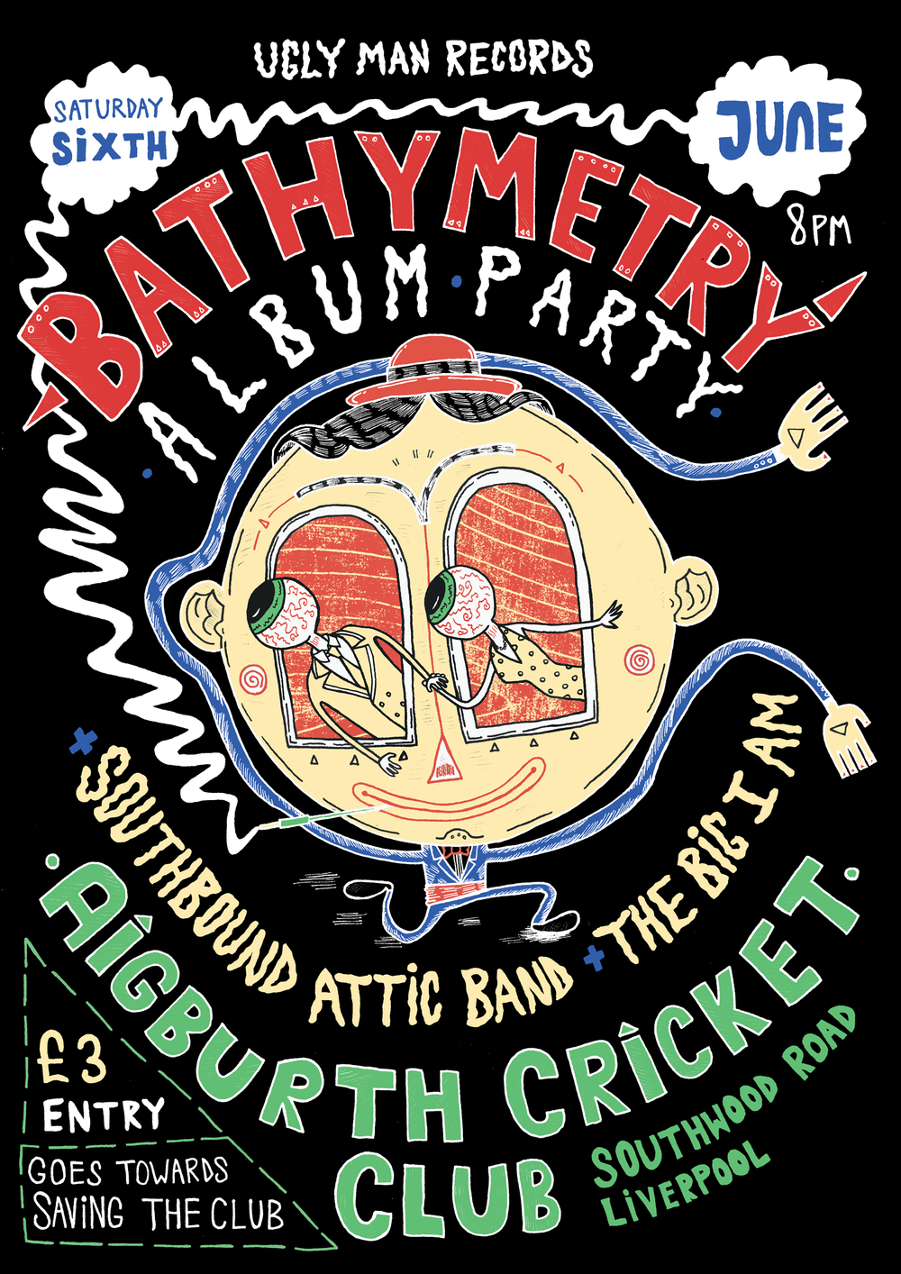 Gig Poster: Bathymetry Album Launch Party