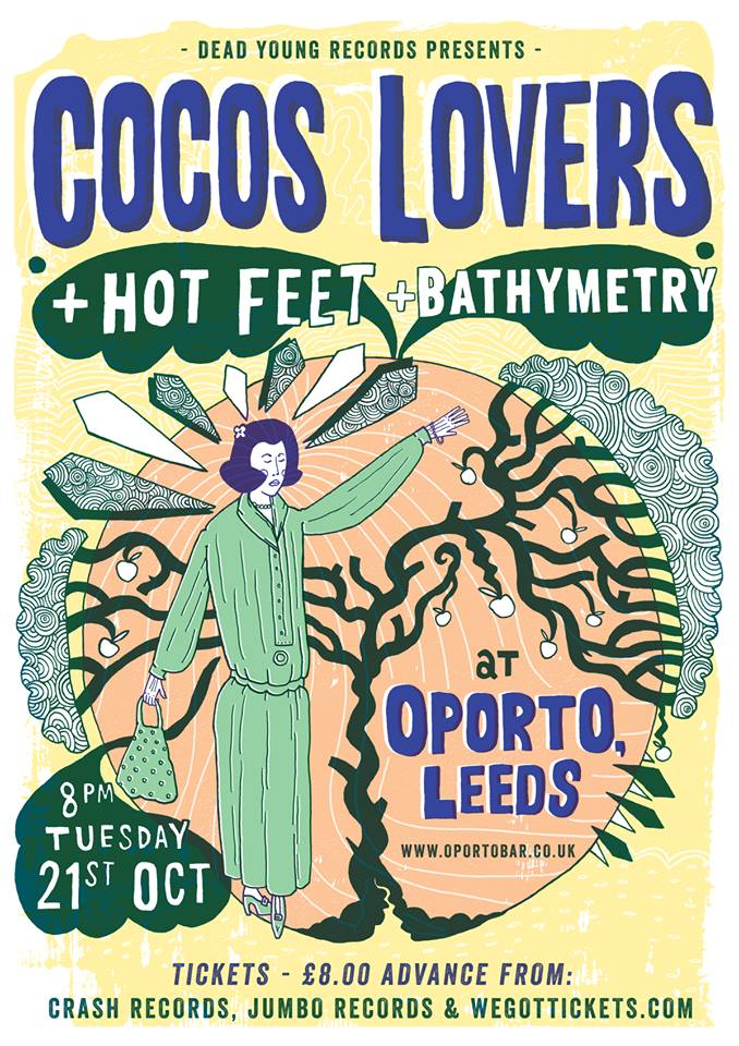 Gig Poster: Cocos Lovers, Leeds