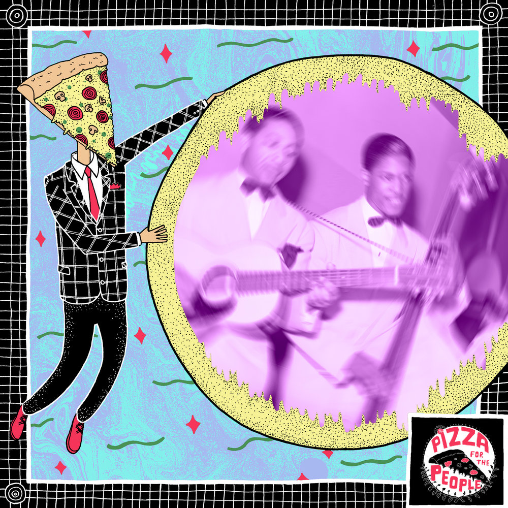 Pizza For The People - Border Graphic for featured bands