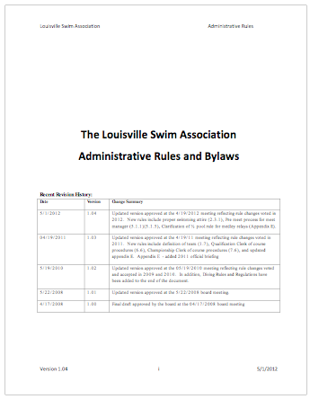 Click for     LSA Rules