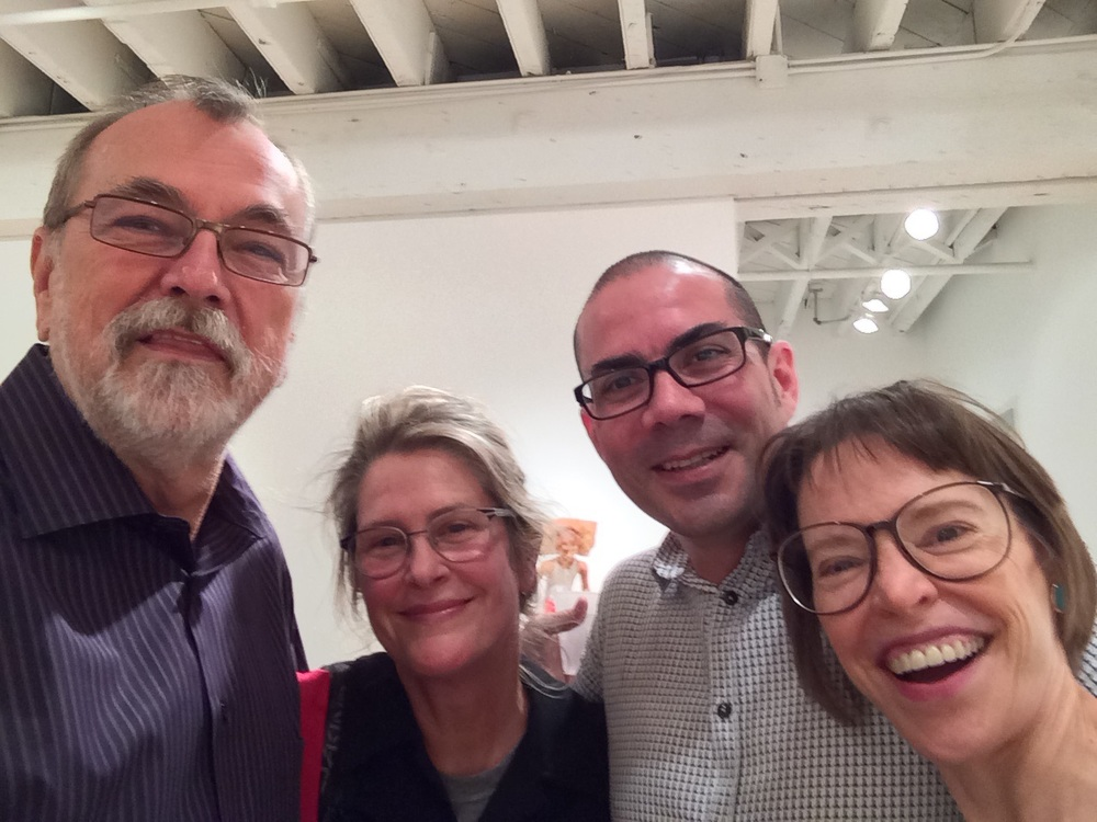 Santiago Cal's opening at RARE gallery.  Great Show, get there! VCU super people ... Joe Seipel, Santiago Cal and Liz King.