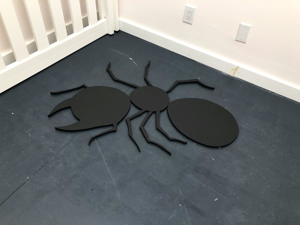 Ant Shadow , 2018, MDF and house paint, 48x16x3/4 inches