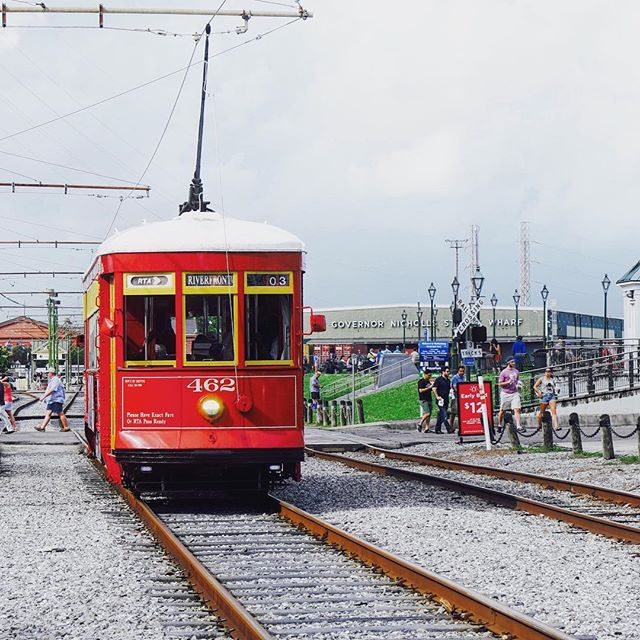 Don't miss the streetcar rides when in NOLA!  _ _ _ _ _ _ _ _ _ _ _ _ _ #instatravel #trip #beautiful #travelgram #instapassport #instago #flashesofdelight #mytinyatlas #unlimitedparadise #dametraveler #outdoors #explore #life #vacation #instagood #igtravel #holiday #vacationwolf #passionpassport #mobilephotography #shotoniphone #neverstopexploring #hsdailyfeature #lifeofadventure #watchthisinstagood #explore #red #instaarchitecture #streetcar #french #nola