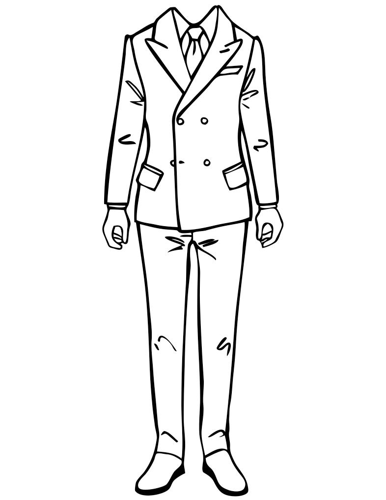 Menswear fashion template.