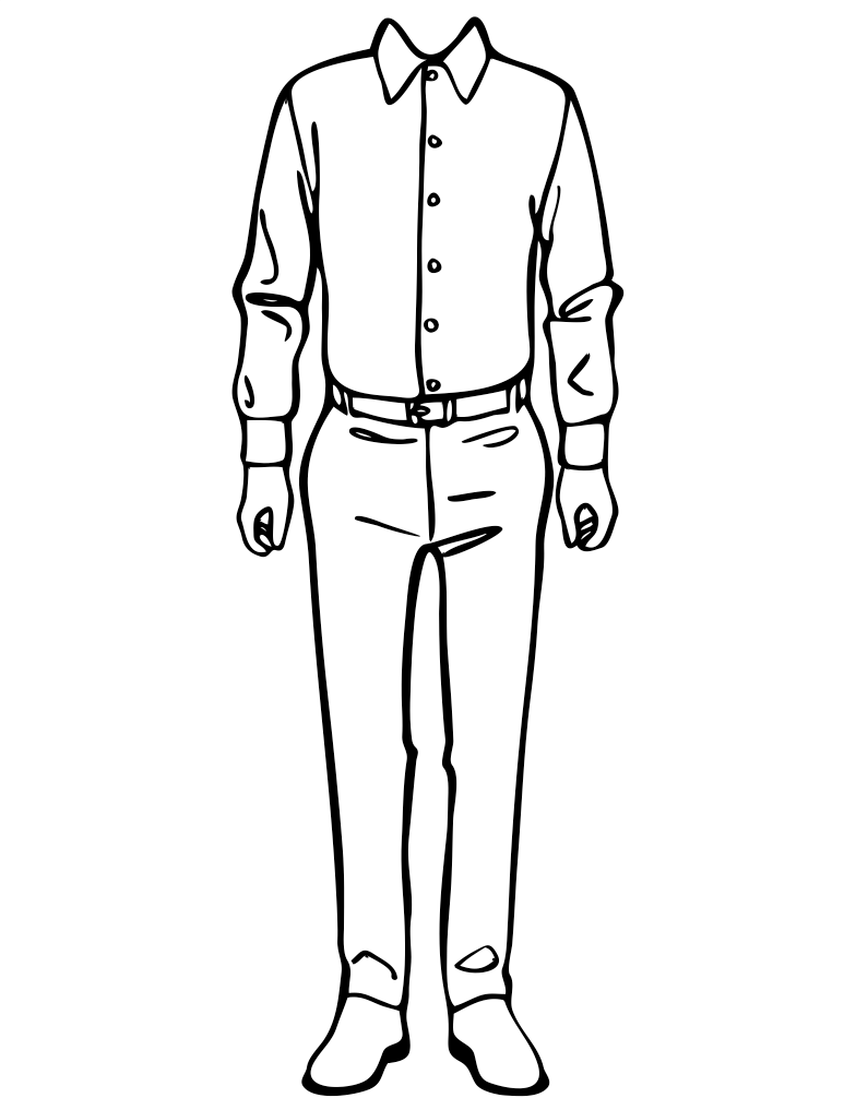 Male Fashion Outlines