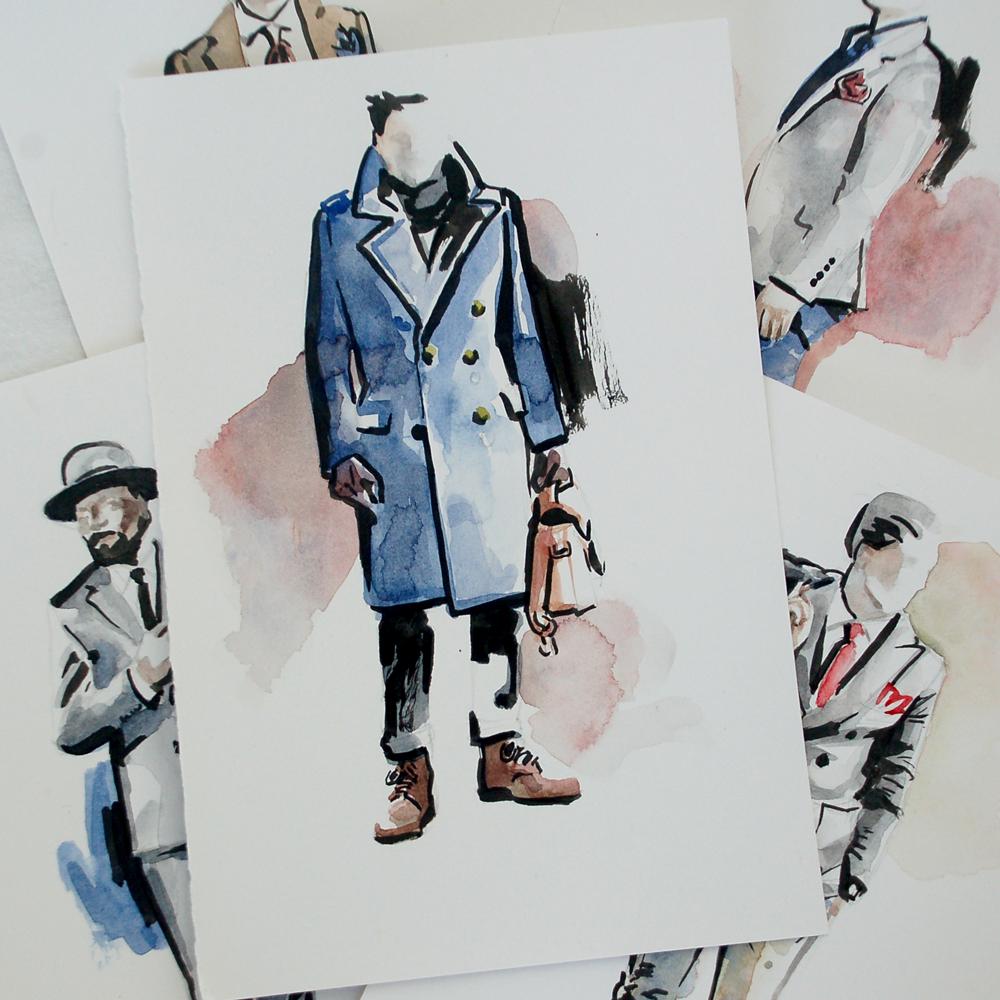 Dapper Man Illustration 1