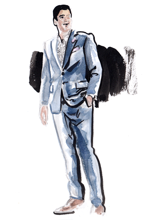 Daily Fashion Illustration 148, Bijan Zamanian