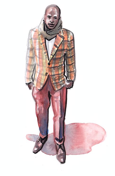 Daily Fashion Illustration, Taj Moore