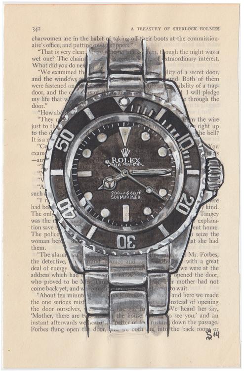 Matt Hranek, Rolex Submariner book page fashion