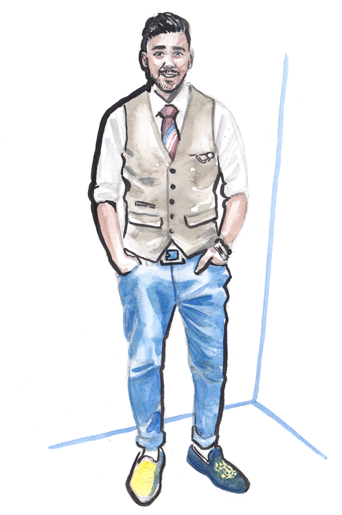 Daily Fashion Illustartion 163, Umar Farooq