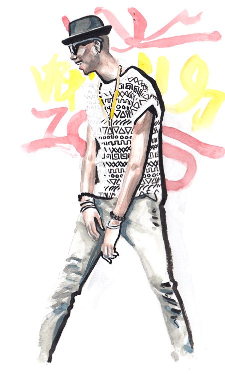 Daily Fashion Illustration 167, Tyshan Ford