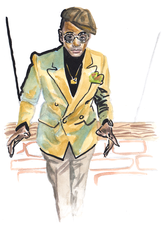 Daily Fashion Illustration 170, Lawrence Jackson
